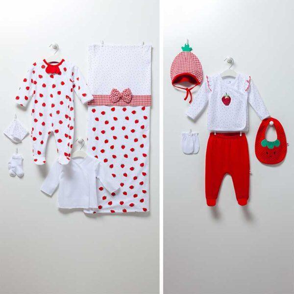 Strawberry Girl – 10-teiliges Neugeborenen Set