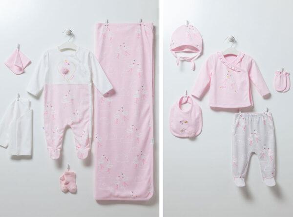 10-teiliges-Neugeborenen-Set-Flamingo-Girl-6891-rosa