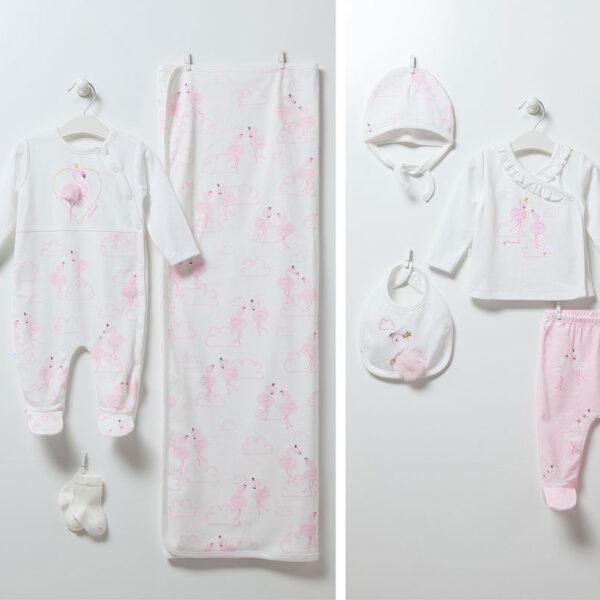 Flamingo Girl – 10-teiliges Neugeborenen Set