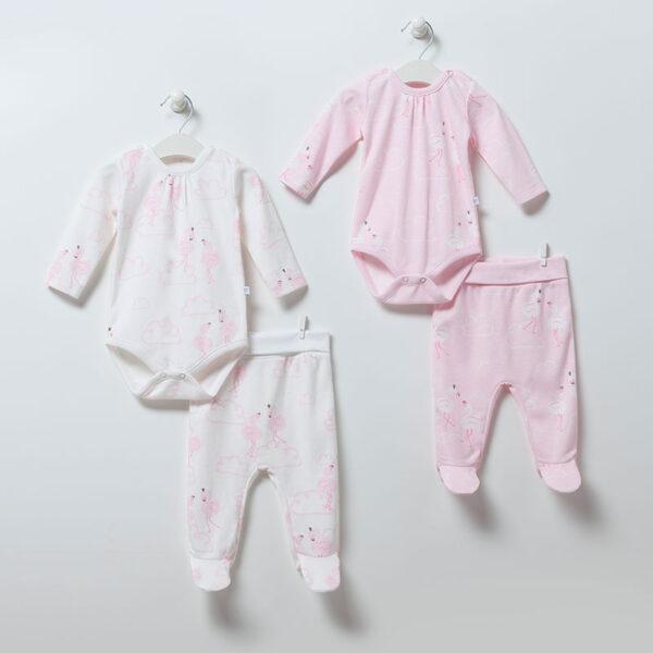 2-teiliges-Set-Flamingo-Girl-6902-weiss