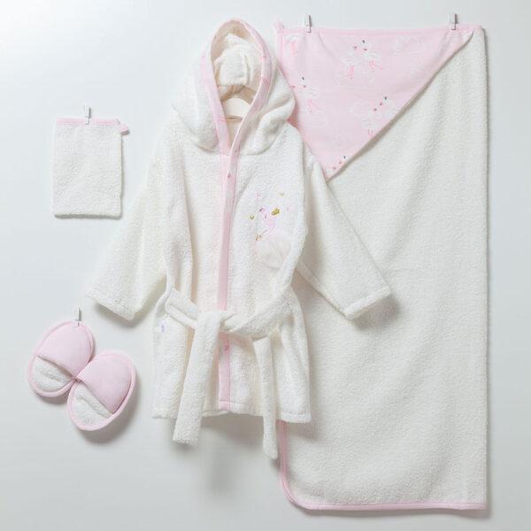 4-teiliges-Bade-Set-Flamingo-Girl-6913-rosa
