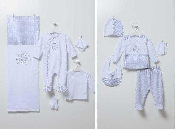 Mini Man 10-teiliges Neugeborenen Set Artikel 6803grau