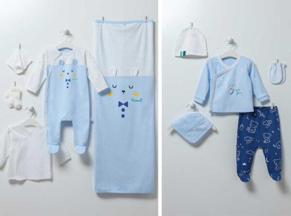 Baby Bear 10-teiliges Neugeborenen Set Artikel 6862-Blau