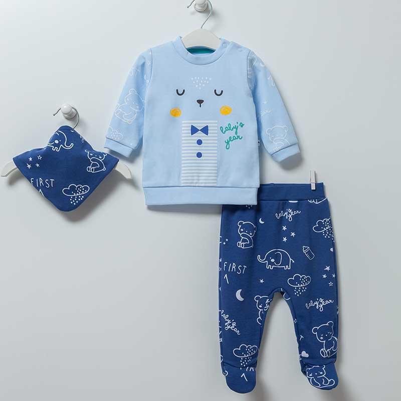 Baby Bear 3-teiliges Set Artikel 6866-Blau