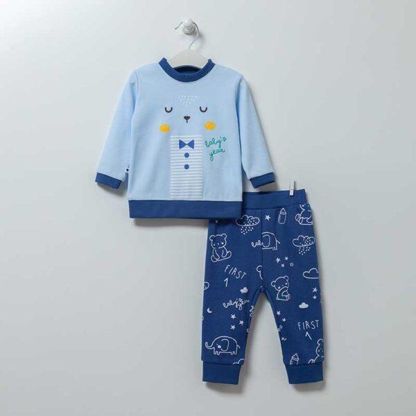 Baby Bear Schlafanzug Artikel 6867-Blau