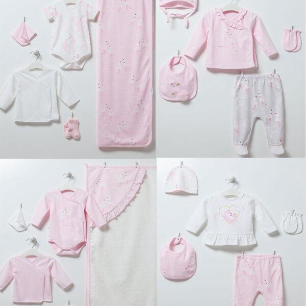 Flamingo Girl – 20-teiliges Neugeborenen Set
