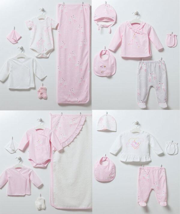 20-teiliges Neugeborenen Set Flamingo Girl ZK6892