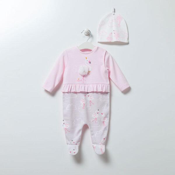 Strampler-mit-Muetze-Flamingo-Girl-6893-rosa