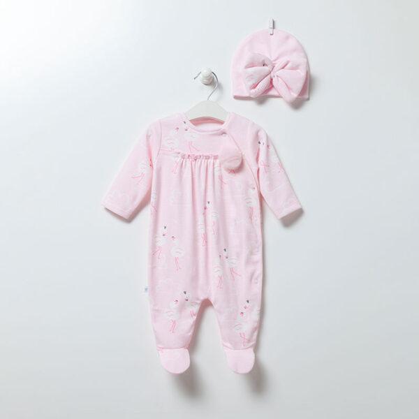Strampler-mit-Muetze-Flamingo-Girl-6894-rosa