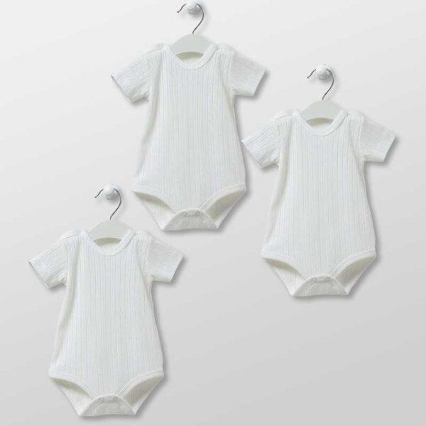 Basic Bodies – 3er Pack Kurzarm Bodies