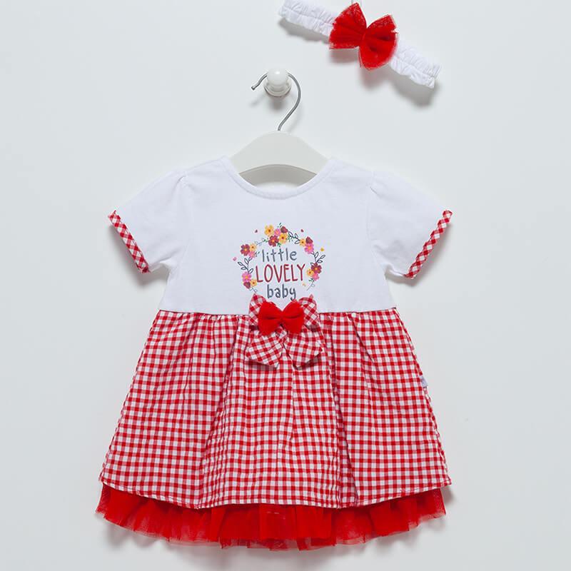 Lovely-Kleid-mit-Stirnband-rot-weiss-Artikel-Nr.-ELB7110